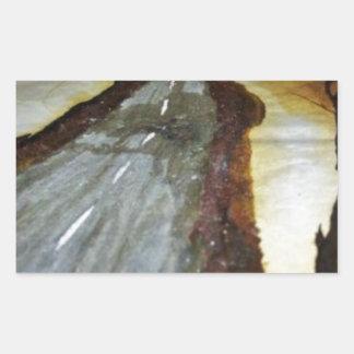 Pegatina Rectangular El árbol de la vida con el camino ese th de