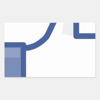Pegatina Rectangular ¡el facebook TIENE GUSTO de mí de manosear con los
