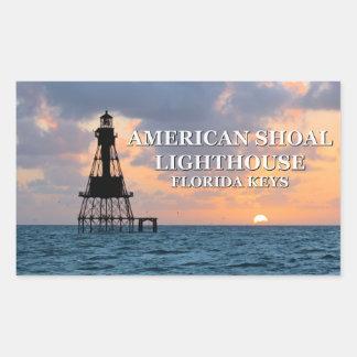Pegatina Rectangular El faro americano del bajío, la Florida cierra a