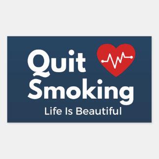 Pegatina Rectangular El fumar abandonado
