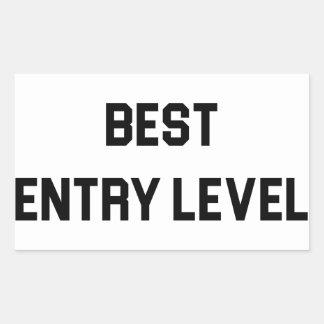 Pegatina Rectangular El mejor empleado del nivel de entrada