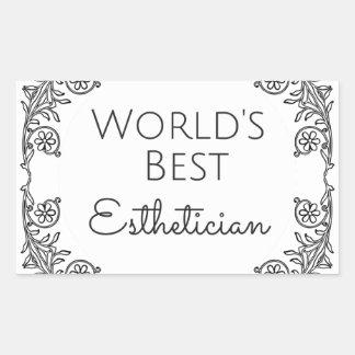 Pegatina Rectangular El mejor regalo 3 del Esthetician del mundo