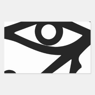 Pegatina Rectangular El ojo del Ra