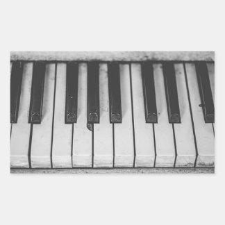 Pegatina Rectangular El piano viejo del vintage cierra Stickera