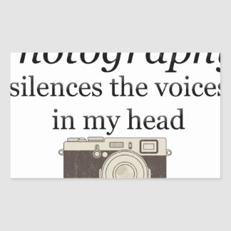 Pegatina Rectangular el pstvimhPhotography silencia las voces en mi