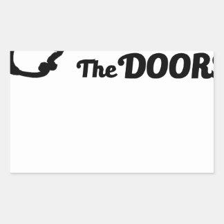 Pegatina Rectangular El rezo es la llave a todas las puertas