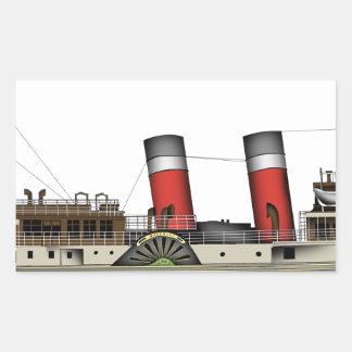 Pegatina Rectangular El vapor de paleta Waverley de Tony Fernandes