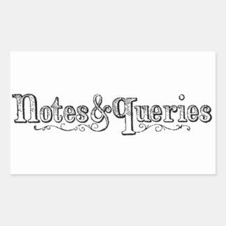 Pegatina Rectangular El vintage observa y pregunta Typograph