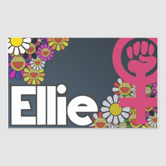 Pegatina Rectangular Ellie - Sheet of 4...