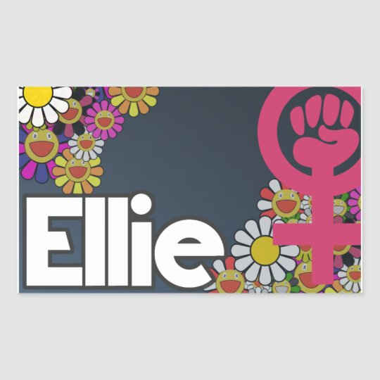 Pegatina Rectangular Ellie - Sheet of 4...