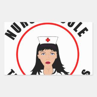 Pegatina Rectangular Enfermera de Nicole