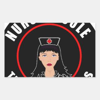 Pegatina Rectangular Enfermera Nicole