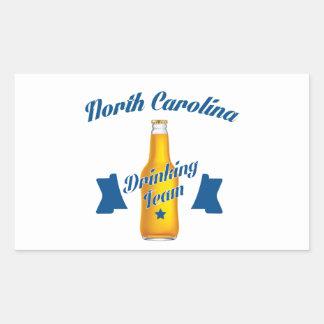 Pegatina Rectangular Equipo de consumición de Carolina del Norte