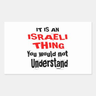 PEGATINA RECTANGULAR ES DISEÑOS ISRAELÍES DE LA COSA