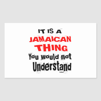 PEGATINA RECTANGULAR ES DISEÑOS JAMAICANOS DE LA COSA