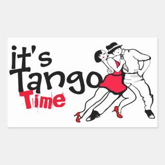 Pegatina Rectangular Es tiempo del tango