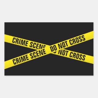 Pegatina Rectangular Escena del crimen