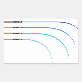 Pegatina Rectangular Espacios en blanco curvados vector doblado de la