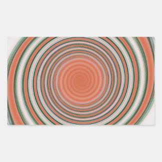 Pegatina Rectangular Espiral - límite