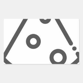 Pegatina Rectangular Esquema de la pizza