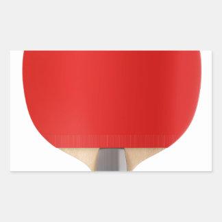 Pegatina Rectangular Estafa de tenis de mesa
