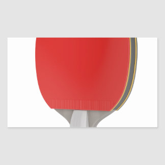 Pegatina Rectangular Estafa del ping-pong