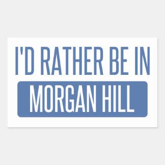 Pegatina Rectangular Estaría bastante en la colina de Morgan