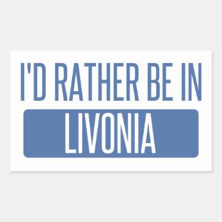 Pegatina Rectangular Estaría bastante en Livonia