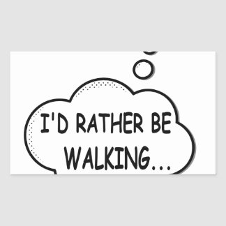 Pegatina Rectangular Estaría caminando bastante