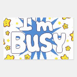 Pegatina Rectangular Estoy ocupado