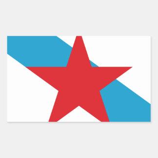Pegatina Rectangular Estreleira - Bandera Independentista Gallega