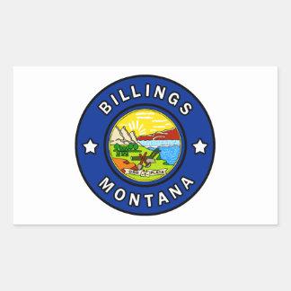 Pegatina Rectangular Facturaciones Montana