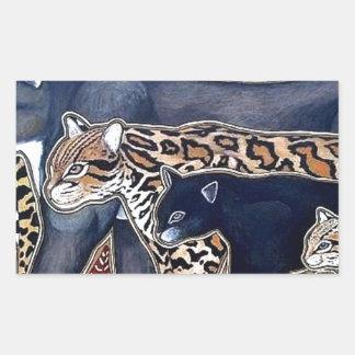 Pegatina Rectangular Felinos de Costa Rica - Big cats