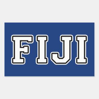 Pegatina Rectangular Fiji