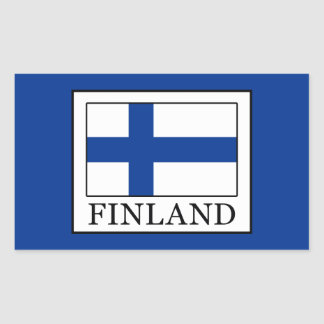 Pegatina Rectangular Finlandia