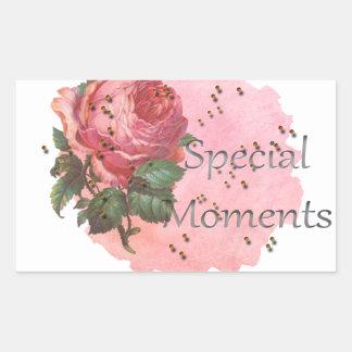 PEGATINA RECTANGULAR FLOWER SPECIAL MOMENTS