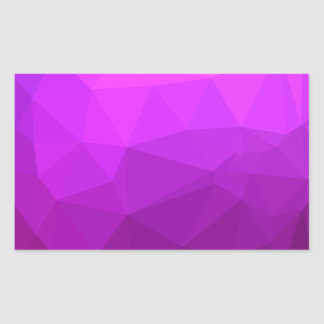 Pegatina Rectangular Fondo bajo abstracto púrpura bizantino del