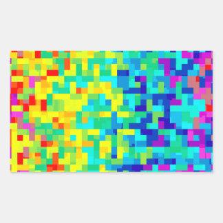 Pegatina Rectangular Fondo inconsútil del modelo del pixel como