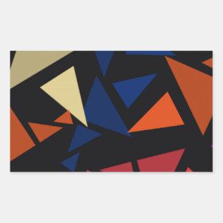Pegatina Rectangular Formas geométricas coloridas