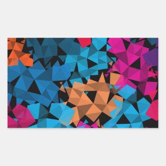 Pegatina Rectangular Formas geométricas coloridas 3D