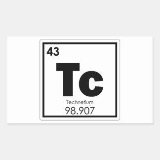 Pegatina Rectangular Formu de la química del símbolo del elemento