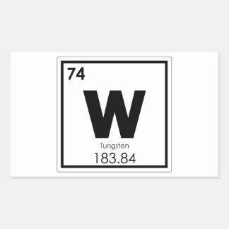 Pegatina Rectangular Fórmula de la química del símbolo del elemento