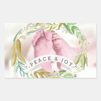 Pegatina Rectangular Foto del día de fiesta de la paz y de la alegría