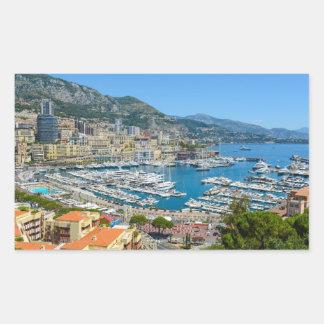 Pegatina Rectangular Fotografía de Mónaco Monte Carlo