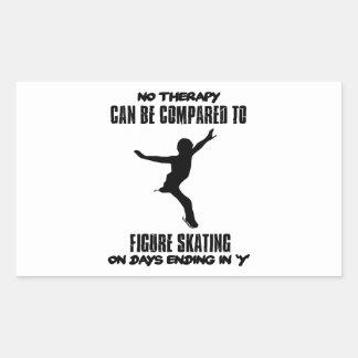 Pegatina Rectangular fresco y tendiendo DISEÑOS del patinaje artístico