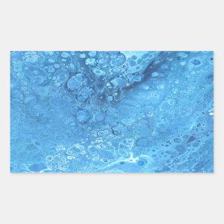 Pegatina Rectangular Galaxia azul