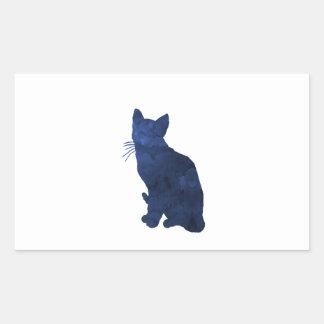 Pegatina Rectangular Gato