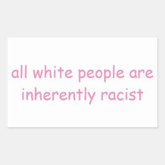 Pegatina Rectangular Gente blanca