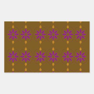 Pegatina Rectangular Gente marrón de los elementos del diseño