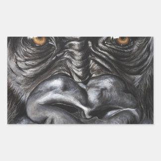 Pegatina Rectangular Gorila